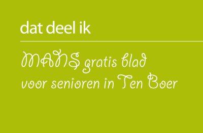 MANS gratis blad voor senioren in Ten Boer